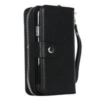 Retro Wallet Case For Samsung Galaxy S III S3 I9300 PU Leather Zipper Handbag 2 In