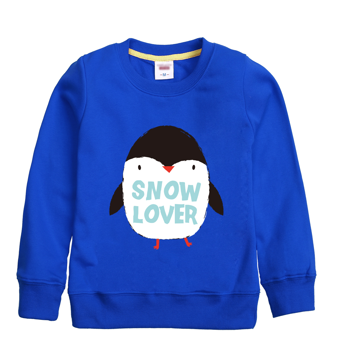 Snow lover pattern printed 2018 hot top sweatshirt design for children winter autumn sweater with eight colors for child choose