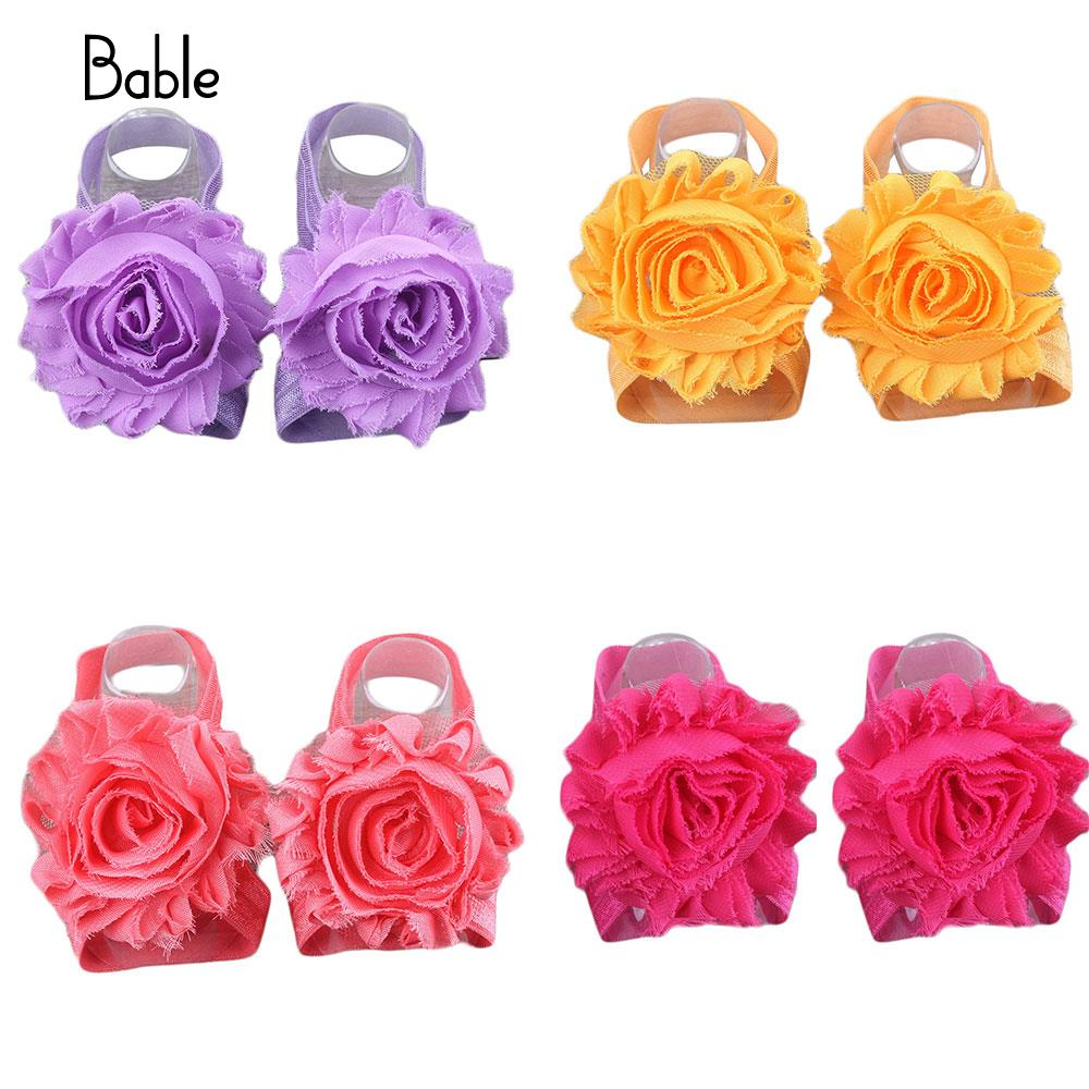 Baby Foot Flower Band Anklets Chiffon Infants Toddler Kids Decor Fashion