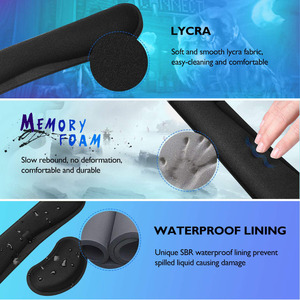Image 4 - RAKOON Keyboard Wrist Rest Pad Wrist Rest Mouse Pad Memory Foam Superfine Fibre Durable Comfortable Mousepad for Office Gaming