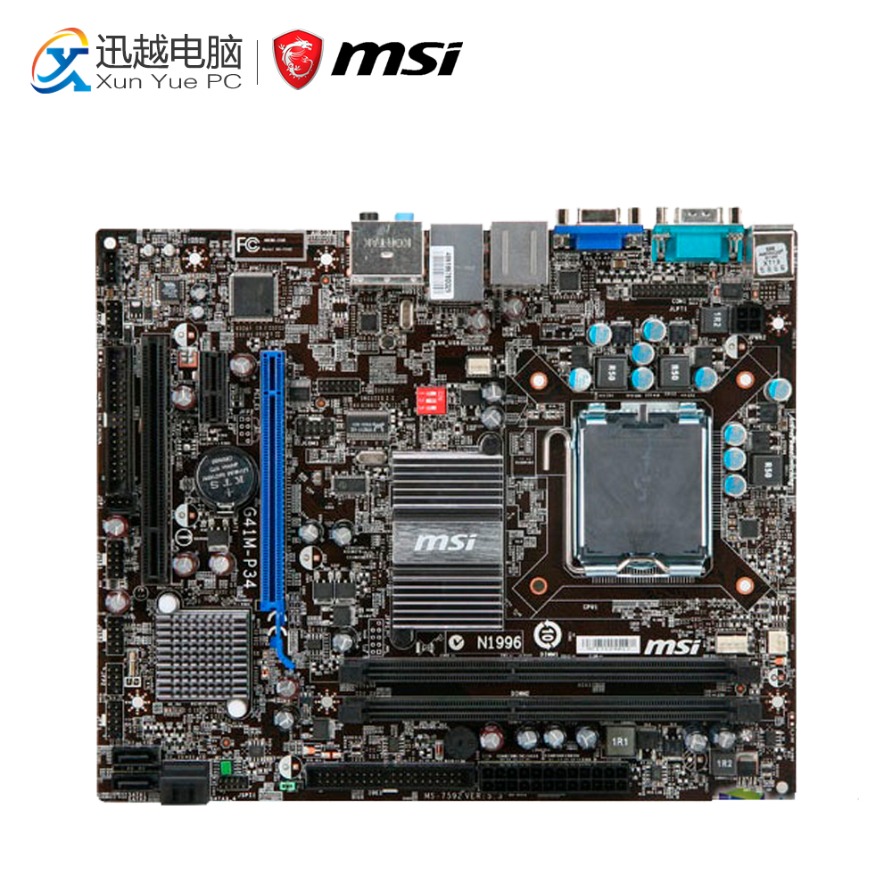 все цены на MSI G41M-P34 Desktop Motherboard G41 Socket LGA 775 DDR3 8G SATA2 USB2.0 Micro-ATX