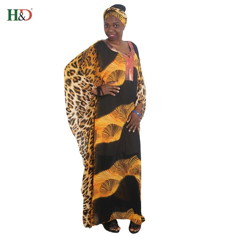 afrikanska kvinnor lång mantel leopard tryckt lös maxi klänningar - Nationella kläder - Foto 5