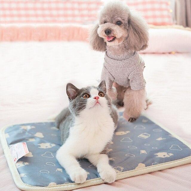 220 В Plug Животные одеяло с подогревом Pet электрическая грелка ковер кошка с подогревом Pad Водонепроницаемый собака нагревательный коврики спальная кровать коврик для кота собаки