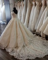 Charming Ball Gown Wedding Dress Short Sleeve Lace Appliques Luxury Wedding Dress Plus Size