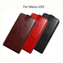 For Meizu U10 Case 5.0 Inch Luxury Wallet PU Leather Phone Case For Meizu U10 U 10 Case Flip Protective Back Cover Bag Skin