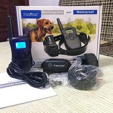 Ошейник для дрессировки собак с электрическим током, ошейник для питомцев, ошейник с защитой от кора, обучающий трекер, 330 ярдов, пульт дистанционного управления для всех размеров собак