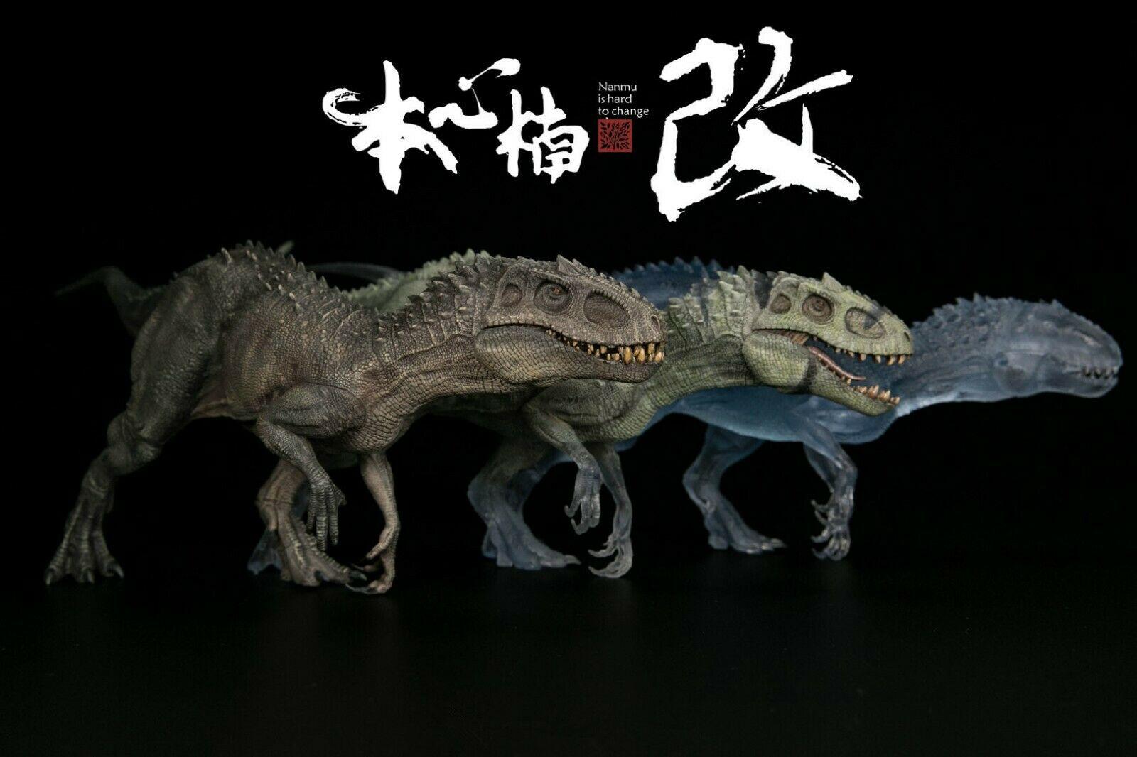 1:35 Transparent Translucent Bereserker Rex Indominus Jurassic Dinosaur Animal Model Figure Ancient Biological Adult Collection