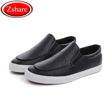 Fashion Men Loafers Slip On Casual Leather Shoes Mens Comfortable Moccasins Shoes Breathable Sneakers 2019 New Black White Flats dxkzmcm 2017 mens loafers flats moccasins men shoes slip on breathable men casual shoes