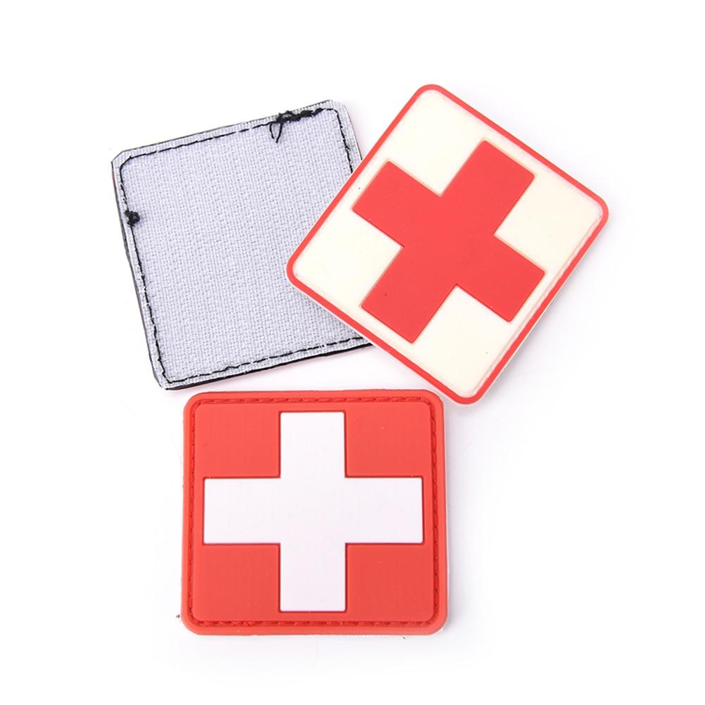 Mini 3d Pvc Rubber Red Cross Flag Of Switzerland Swiss Cross Patch Medic Paramedic Tactical Army Morale Badge Music Memorabilia Entertainment Memorabilia