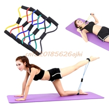 8 Type Resistance Strength Training Bands New Stretch Rope Tube Workout Exercise Gym Weight Yoga #H030#