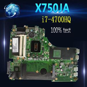 Amazoon i7-4700HQ X750JA Motherboard Para For Asus X750JB A750JA K750J K750JA X750JA X750J laptop Motherboard Mainboard teste 100% ok