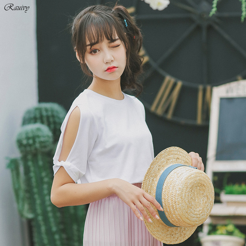 2017 Off Shoulder Top Women Ulzzang Harajuku Kawaii Korean Style Funny T Shirts Summer Sexy ...