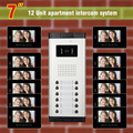 apartment intercom system for 12 units apartment 7 inch LCD monitor IR video door phone intercom doorbell home security system