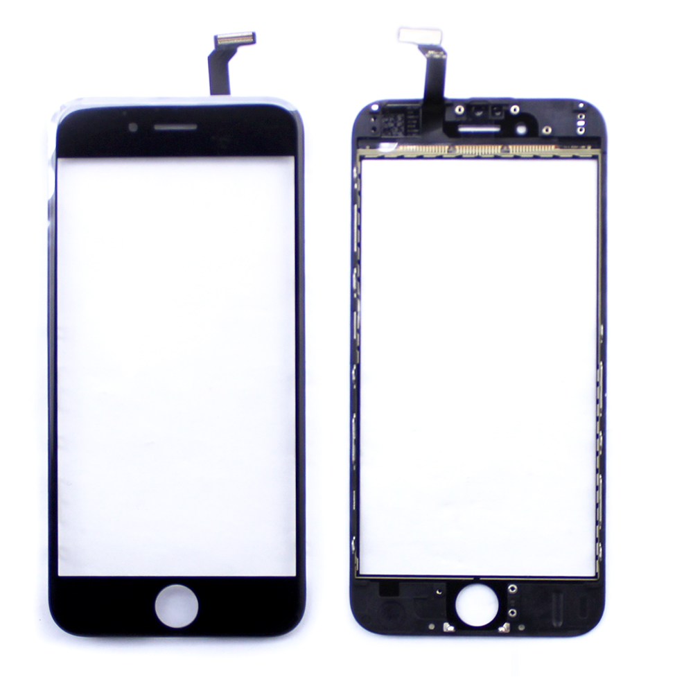 Black Touch Screen Digitizer Panel Glass Lens Touchscreen Bracket For iphone 6 Replacment Parts Repair For
