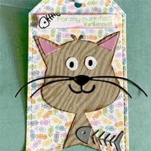 Eastshape Animal Cat Metal Cutting Dies for Scrapbooking 13Pcs Gowing Embossing Stencil Card Decoration die cut