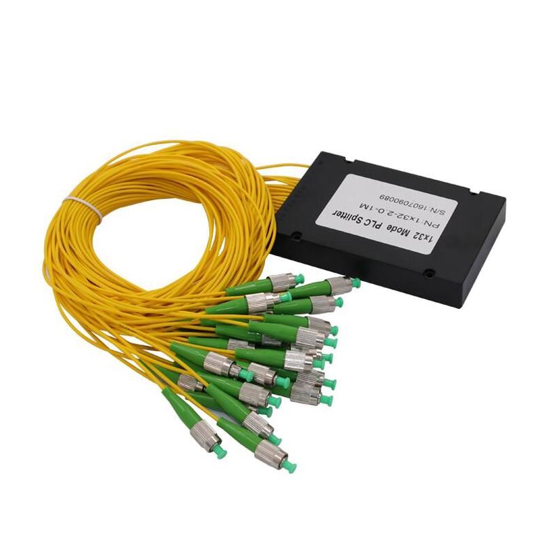 FC APC PLC 1X32 Fiber Optic Splitter Box With FC APC Conector PLC 1X32 FC APC Single Mode ABS Optical Splitter Free Shipping