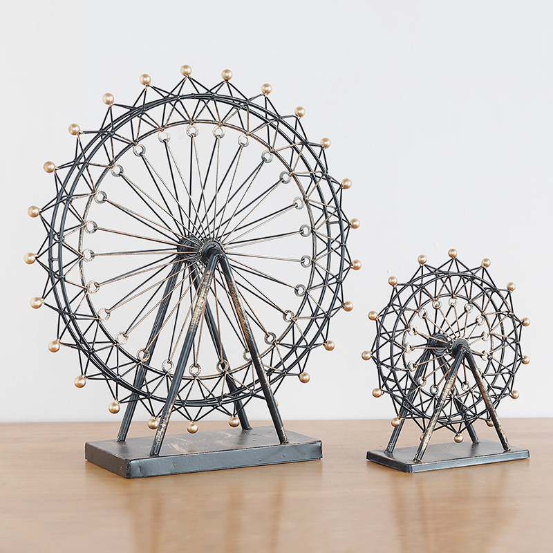 Ferris Wheel Valentine 39 s Day Gift Children 39 s Room Decoration Accessories Birthday Gift Creative Home Metal Decorations in Figurines amp Miniatures from Home amp Garden