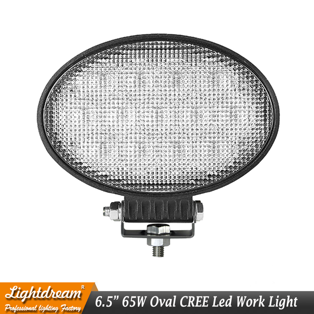 65W 5950lm Oval LED Work Light For Heavy Duty Agricultural Tractors Trucks Boats Head Lamp Fits John Deere Tractor Lamps x1pc