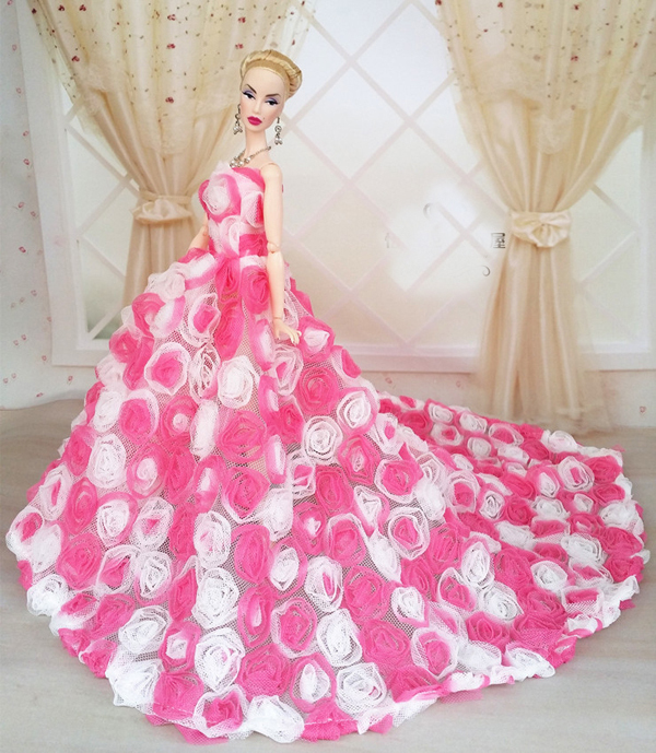 Pink rose flower dress clothes bag shoes for barbie doll in pink rose flower dress clothes bag shoes for barbie doll in dolls accessories from toys hobbies on aliexpress alibaba group mightylinksfo