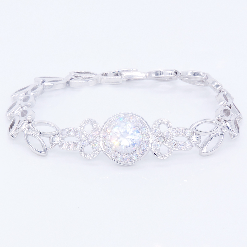 Princess Queen style 24k platinum plated Bracelet Wedding Accessories Bridal Jewelry Bracelets for font b Women