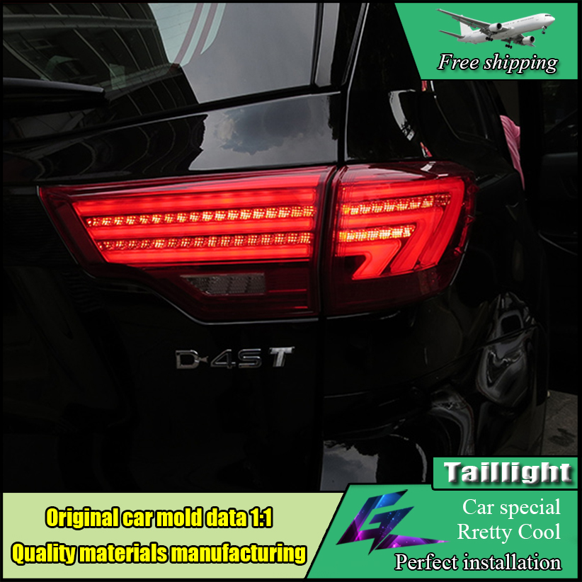 Car Styling Taillight Accessories For Toyota Highlander Tail Lights 2015 2016 LED Tail Light LED Rear Lamp DRL+Brake+Park+Signal high quality car styling 35w led car tail light for toyota highlander 2015 tail lamp drl signal brake reverse lamp