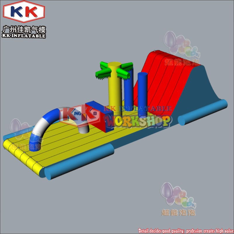 CE Certificate Inflatable Floating Obstacle Equipment, Inflatable Floating Water Obstacle Course For Pool