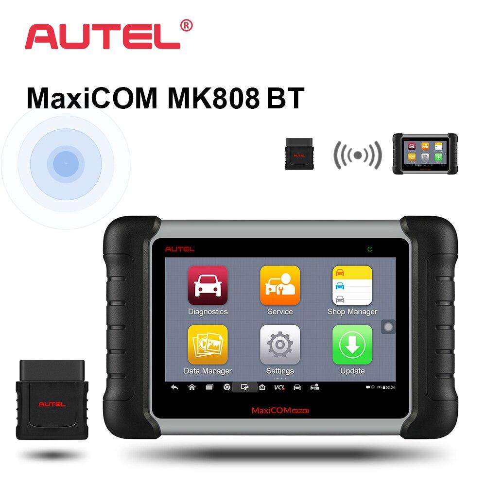 Autel MaxiCOM MK808 BT OBD2 Car Diagnostic Tool ODB2 scanner automotive code reader for key programming EPB IMMO DPF SAS TMPS цены