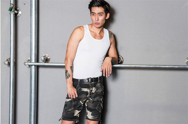 Najnowsze mody przypadkowi dżinsy spodnie jeansowe kamuflaż - Akcesoria motocyklowe i części - Zdjęcie 3