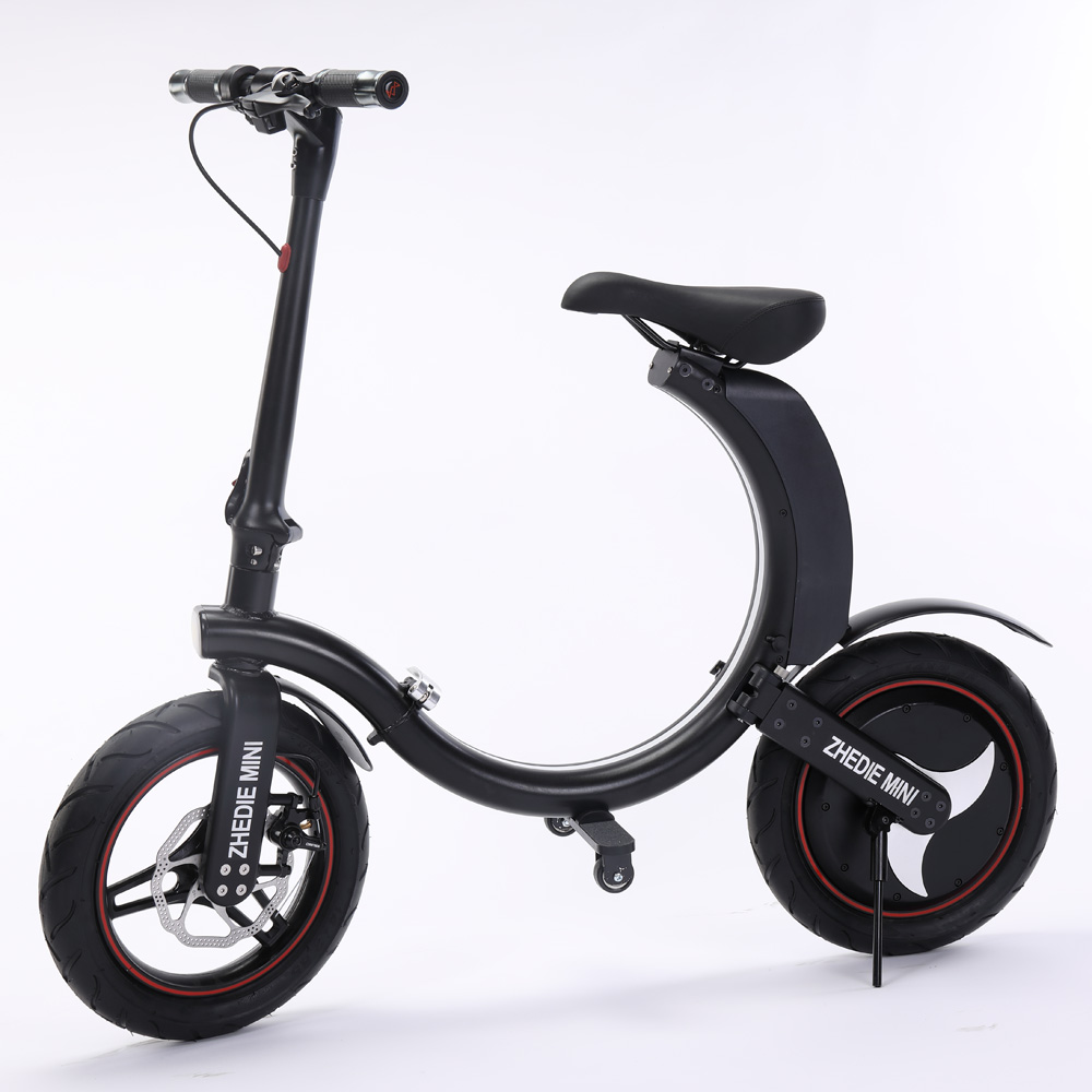 Portable Electric Bike Two Wheels Electric Bicycle 14 Inch Single Motor 450W 36V Foldable Electric Scooter