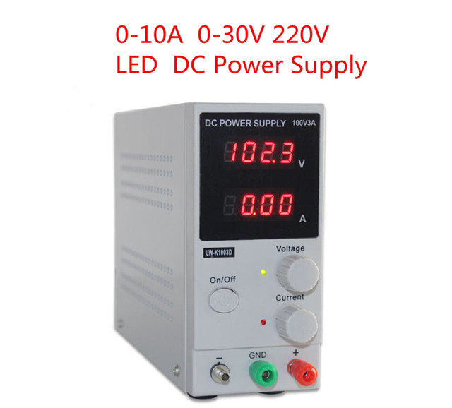 US $54 07 48% OFF NEW 30V 10A LED Display Adjustable Switching Regulator DC  Power Supply 110V/220V Change Laptop Repair Rework-in Transformers from