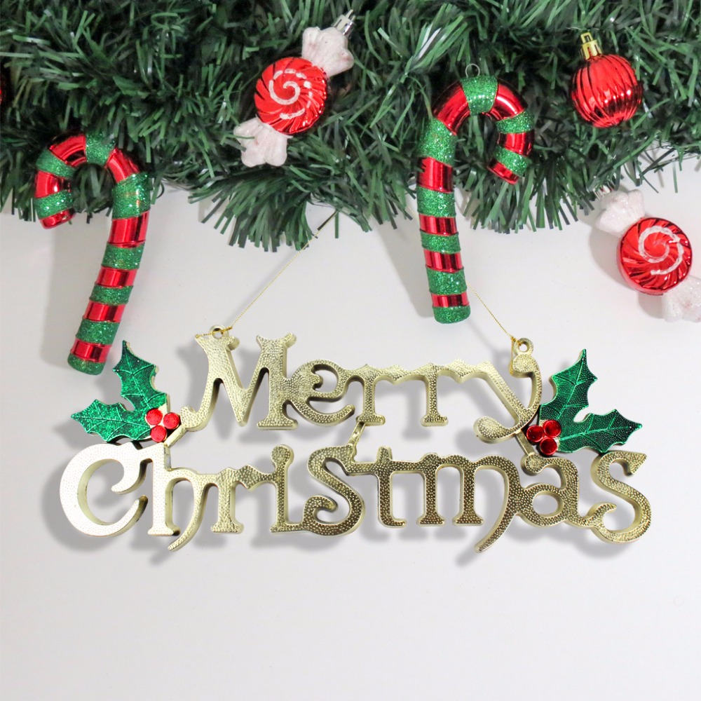 alphabet letter card xmas ornaments christmas tree decorations for