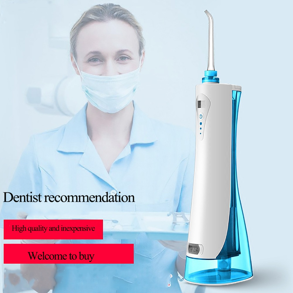 Free Shipping Electric Rechargeable Portable Oral cleaner Travel Dental Water Flosser for Qralcare Water Pick Blue