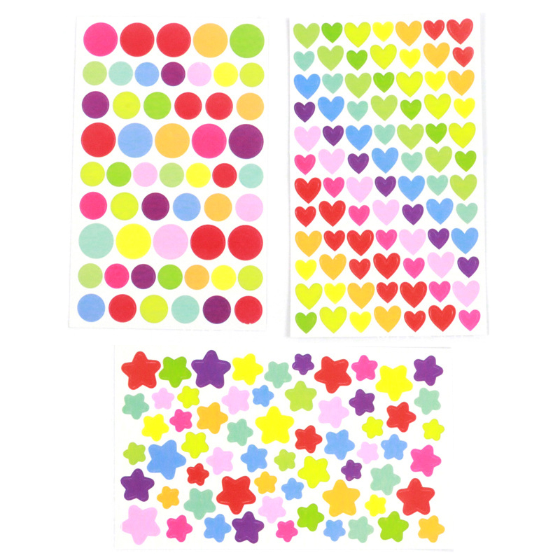 Colorful Cute Stickers DIY Decals Sticker For Notebook Albums Scrapbook Decorative Laptop Classic Toys For Kids 5pcs/lot