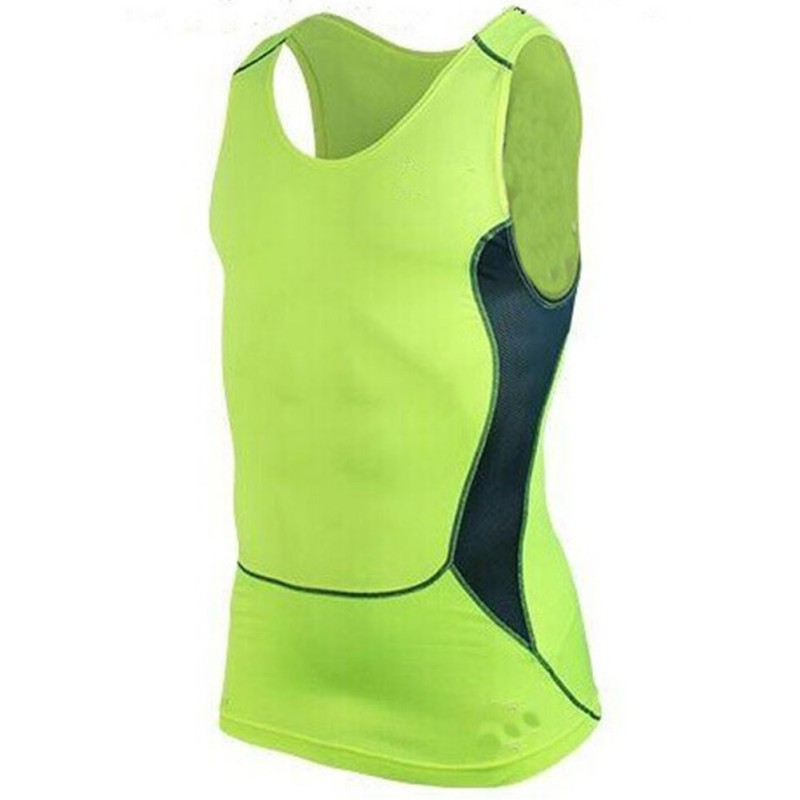 Summer Men Moisture Wicking Vest Clothes Compression Tight Base Layer Fitness Workout Vest Tank Tops