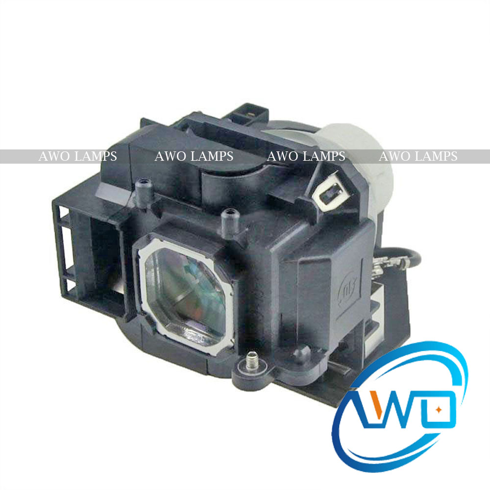 AWO High Quality NP23LP / 100013284 Replacement Projector Lamp with Housing for NEC NP-P401W / NP-P451W / NP-P451X / NP-P501X awo high quality projector replacement lamp sp lamp 088 with housing for infocus in3138hd projector free shipping