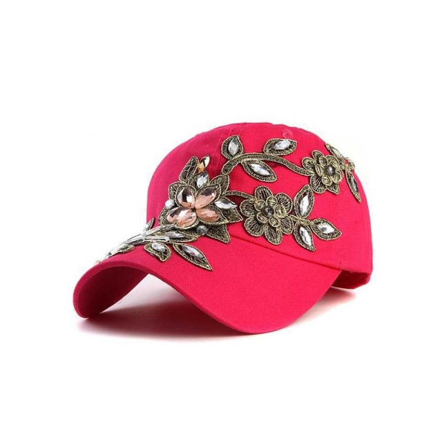 Summer Lady Baseball Cap Outdoor Sun Sports Hat Autumn Winter Rose Diamond Duck Cap Visor Dropshipping