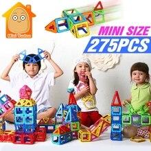 Minitudou 275 PCS Mini Magnétique Construction Blocs Enfants 3D DIY Modèles Bâtiment Jouet Designer Jouets Éducatifs Pour Enfants