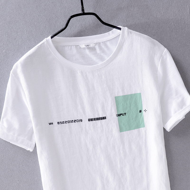 New design brand short sleeve linen t shirt men fashion casual white t-shirt mens solid summer t shirts for men camiseta chemise