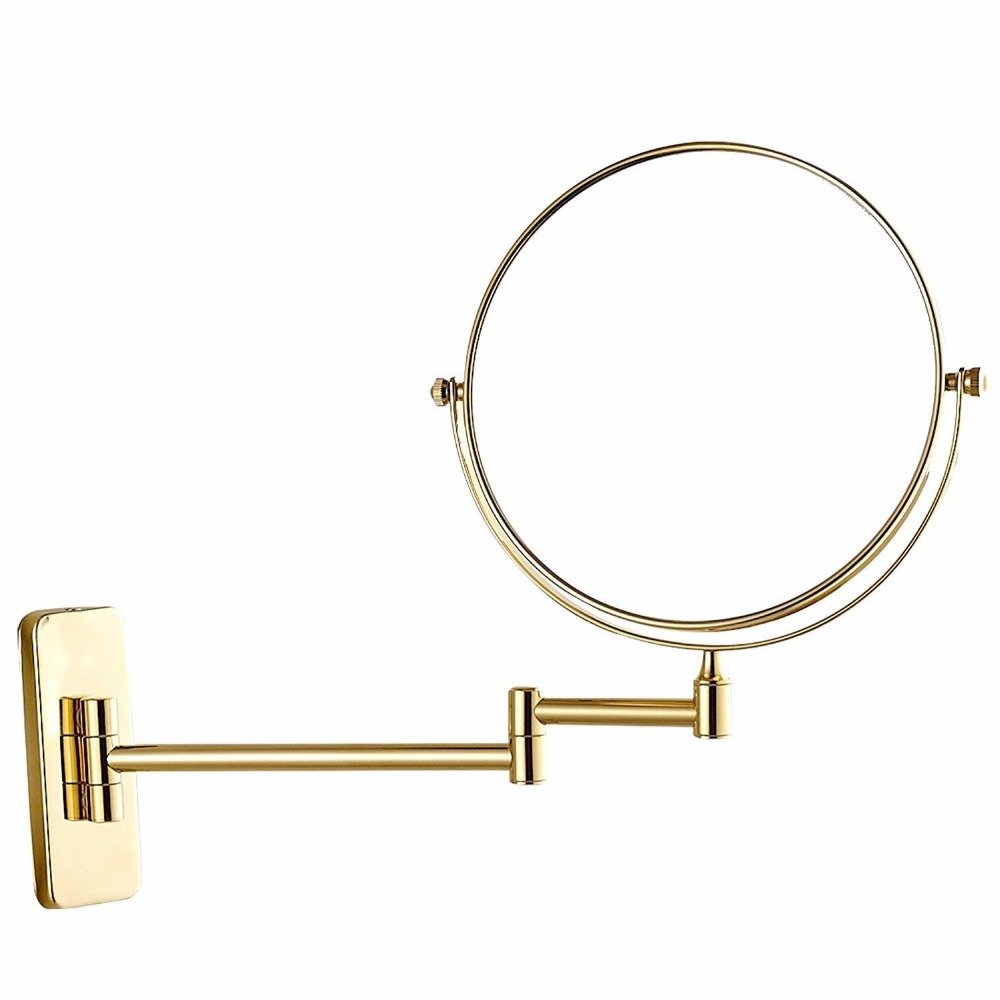 Gurun 8 Inch 10x/7x/5x Magnifying Cosmetic Makeup Mirror Wall Mount Double Sided Bathroom Hotel Mirror Round Gold Finish M1407J все цены