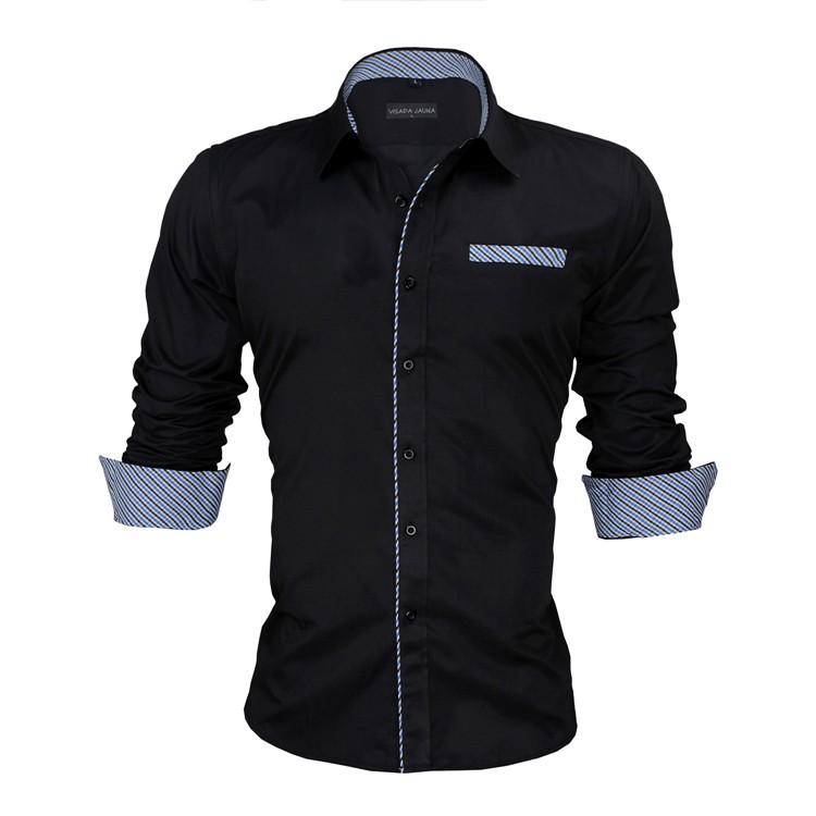 HTB1epp6KVXXXXb3apXXq6xXFXXXC - New Arrivals Slim Fit Male Shirt Solid Long Sleeve British Style Cotton Men's Shirt N332