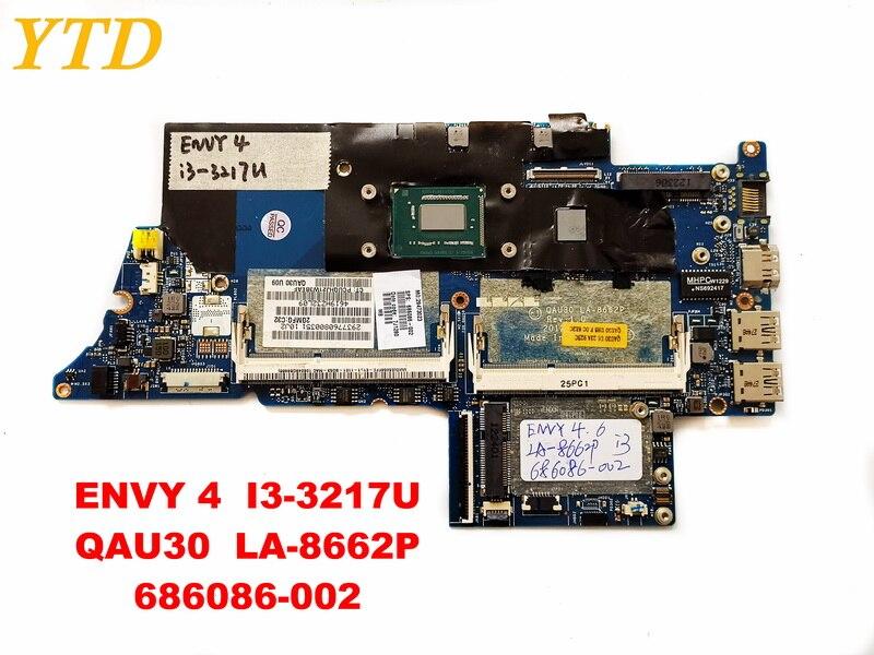 100% Wahr Original Für Hp Envy 4 Laptop Motherboard Envy 4 I3-3217u Qau30 La-8662p 686086-002 Getestet Gute Freies Verschiffen Billigverkauf 50%