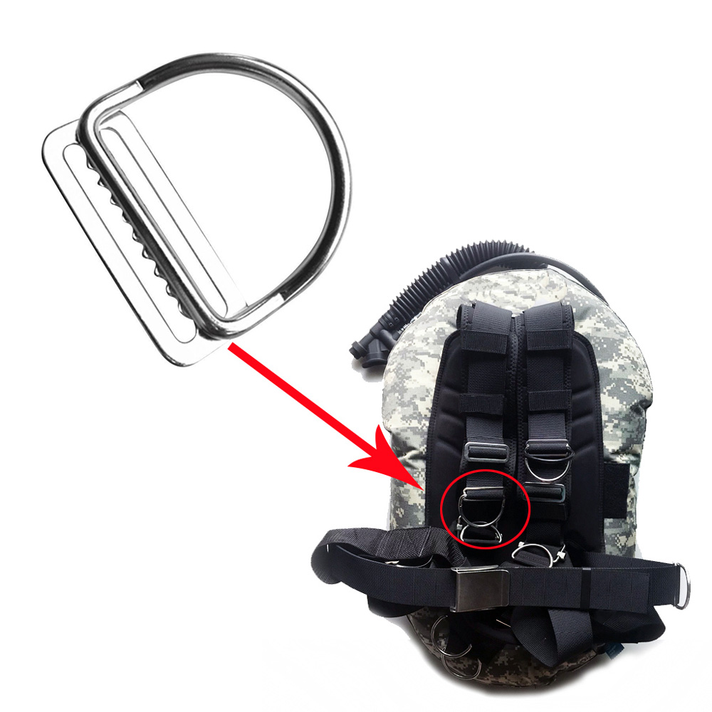 50mm SCUBA Diving D-Ring Rite Diving Webbing Keeper Clip Harness BCD Weight Belt Keeper Slider