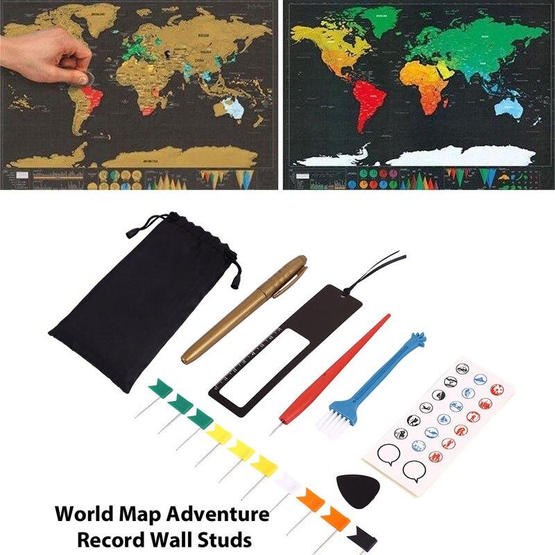 DIY 8 шт./пакет маскирующий фломастер набор царапин карта набор инструментов маркеры наклейки для стикеры с изображением георгафической карт...