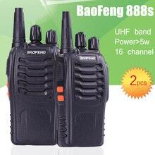 2 шт. BaoFeng bf-888S UHF Аккумуляторная Рации 888 s двухстороннее Радио Коммуникатор Портативный Двухстороннее Радио Трансивер