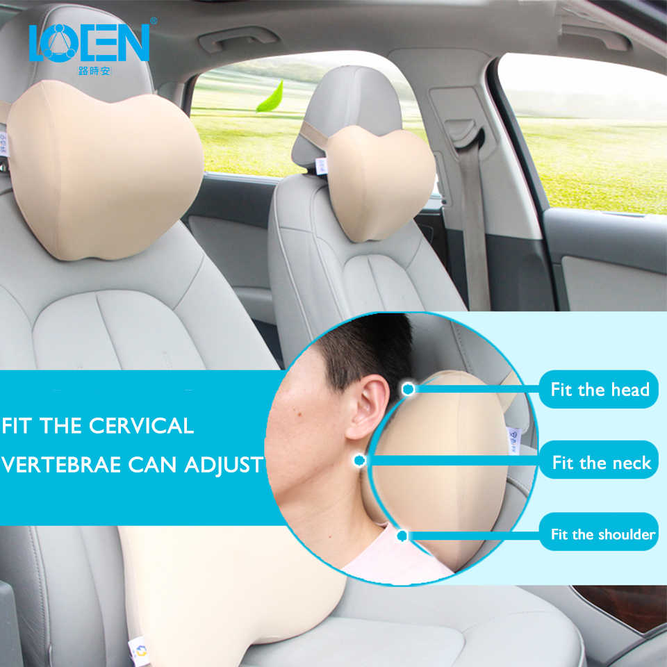 1PCS Car Headrest Neck Pillow for auto seat chair Memory Foam cotton mesh cushion Fabric Cover soft Head rest travel support