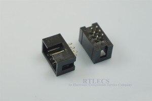 Image 1 - 1000 قطعة يكتنفها صندوق رأس IDC المقبس 2.54 مللي متر 2x3 دبوس 6 P مستقيم الذكور مربع دبوس 0.64 مللي متر 2 صفوف الفضاء 2.54 من خلال ثقب DIP