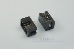 Image 1 - 1000 sztuk osłonięte pole nagłówek gniazdo IDC 2.54mm 2x3 Pin 6 P prosty mężczyzna placu pin 0.64mm 2 rzędy przestrzeni 2.54 przez otwór DIP