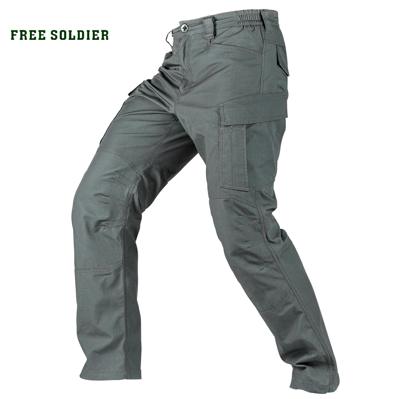 FREE SOLDIER Outdoor camping hiking urban tactical pants for special purpose ,sports water-repellent, wear-resistant pants local lion 475 multi functional outdoor travel water resistant polyester bucket bag blue 45l