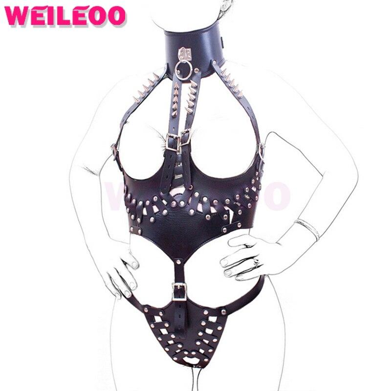 rivet harness breast bondage hood sex toy bdsm erotic adult game fetish slave bdsm bondage restraint