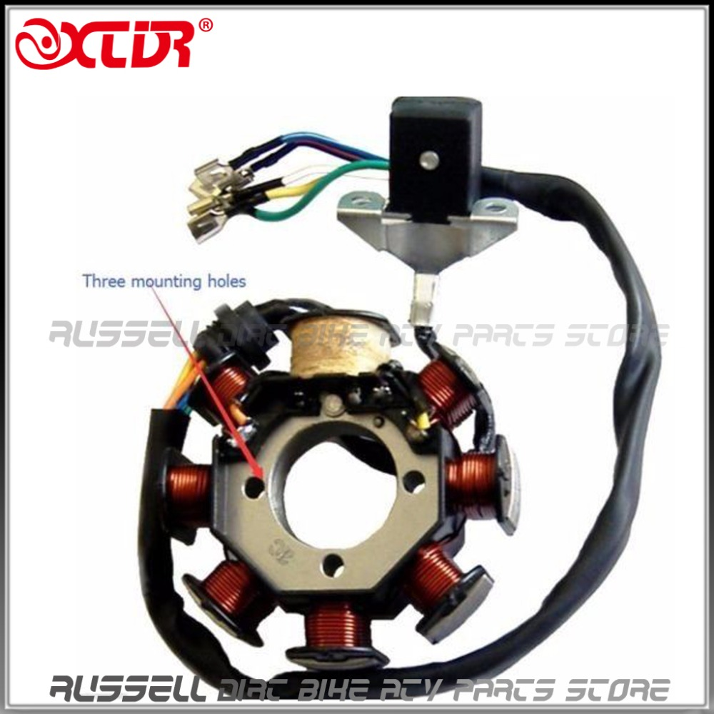 250cc 200cc atv quad full electrics cdi magneto ignition coil Scooter Cdi Wiring Diagram 10 magneto stator 11 easy to read wiring diagram td040 3 1 td040 3 3